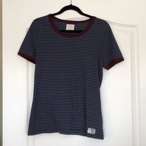 Quicksilver baby and maroon striped tee